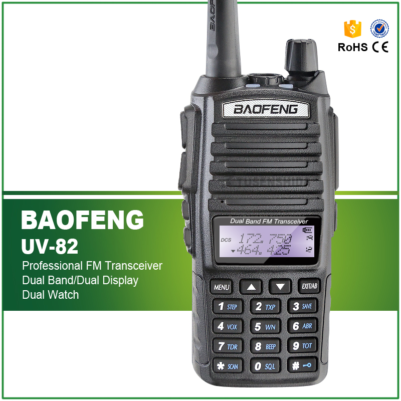Baofeng UV-82 VHF/UHF Dual-Band DTMF FM Walkie Talkies İki yönlü Radyo