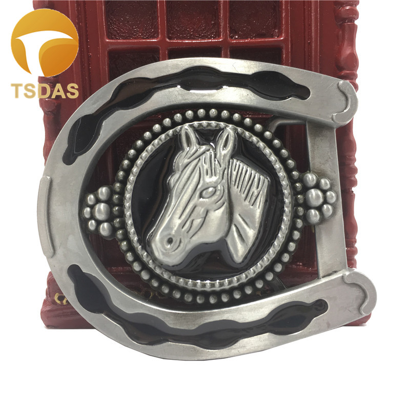 New Classic Silver Horse's Head Retro Metal Belt Buckle Suitable for 3.8cm Belt Fashion Gift Belt Buckle